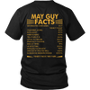 Limited Edition ***May Guy Facts Back Print*** Shirts & Hoodies