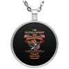 Limited Edition God Bless America Circle Necklace