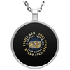 Limited Edition Police Mom Circle Necklace