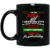 Limited Edition Christmas April Black Mug