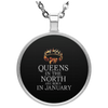 Limited Edition Queens In North Circle Necklace
