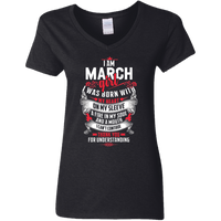 I am March Girl Born With My Heart On My Sleeve