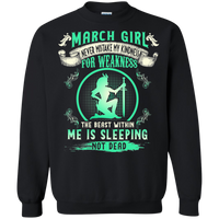 "March Girl ""THE BEAST WITHIN ME IS SLEEPING NOT DEAD"""