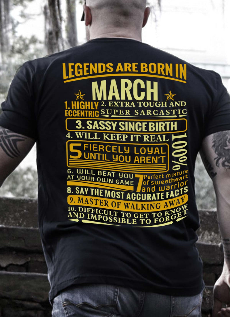 fa8684828 New Edition **Legends Are Born In March** Shirts & Hoodies ...