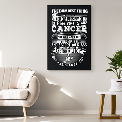 Cancer Canvas Ready To Hang