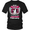 February Women Who Loves Pitbull Shirt, Hoodie & Tank