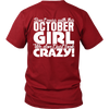 Limited Edition **Crazy October Girl** Shirts & Hoodies