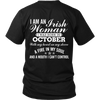 Limited Edition ***Irish Women Born In October*** Shirts & Hoodies