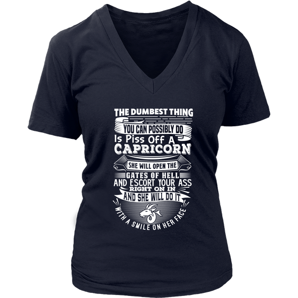 T-shirt - CAPRICORN DUMBEST THING WOMEN SHIRT