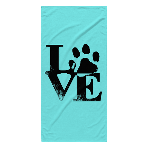 Love Dogs Beach Towels