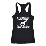 Smart Women Love Pitbulls Women's Tank Top - PuppyShirts