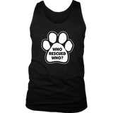 Who Rescued Who? Men's Tank Top