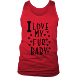 I Love My Fur Baby Men's Tank Top - PuppyShirts