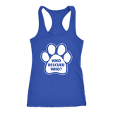 Who Rescued Who? Women's Tank Top - PuppyShirts