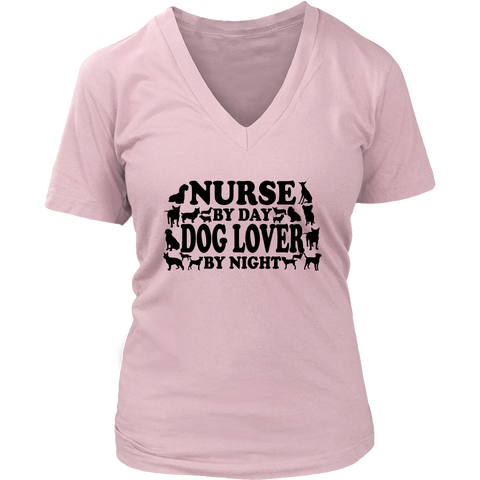 Nurse Dog Lover Women's V-Neck