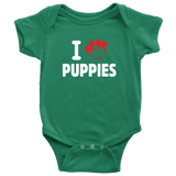 I love Puppies Onesie - PuppyShirts
