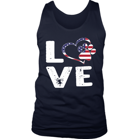 LOVE Men's Tank Top - PuppyShirts