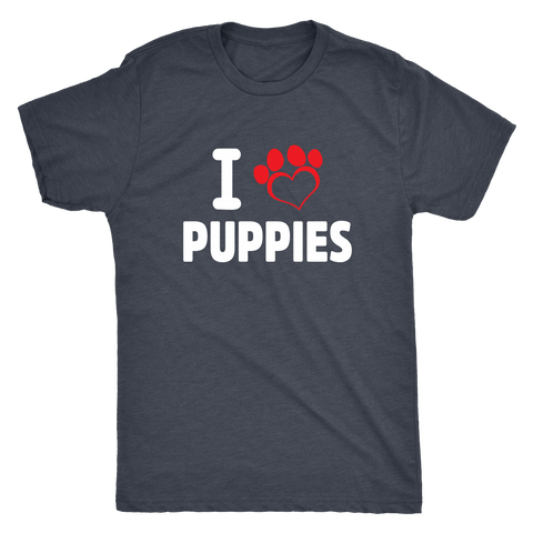 I love Puppies Men's Triblend - PuppyShirts