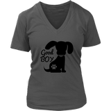Good Boy Women's V-Neck - PuppyShirts
