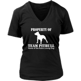 Property Of Team Pitbull Women's V-Neck - PuppyShirts