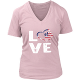 LOVE Women's V-neck - PuppyShirts