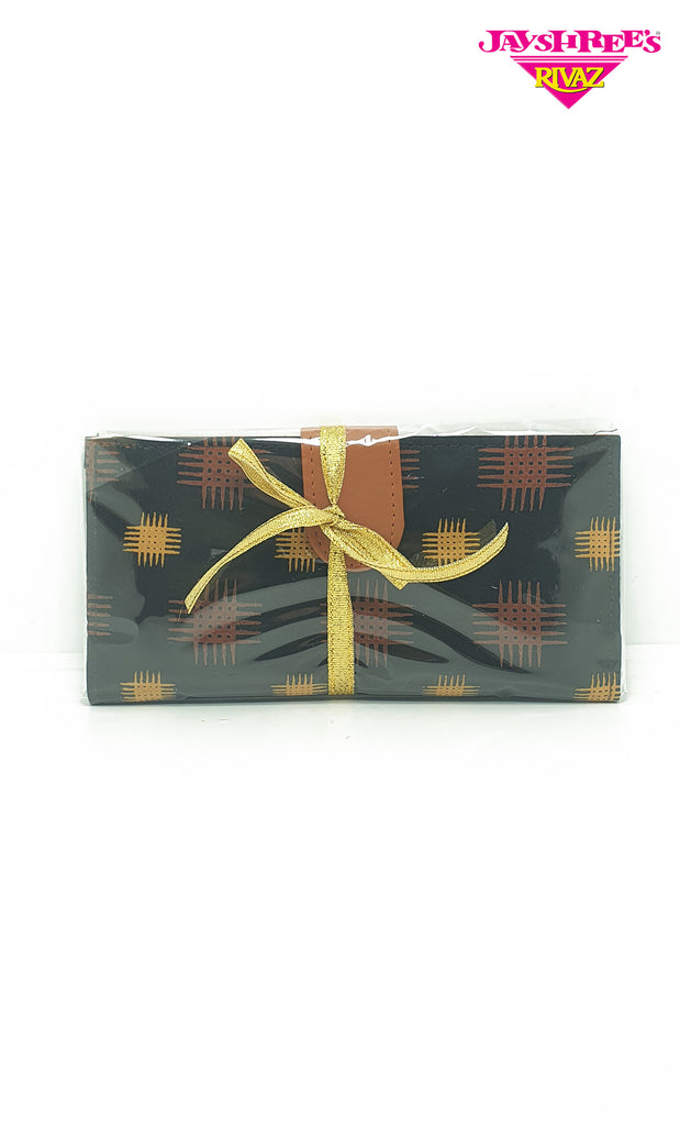 Navy Printed Wallet Gift