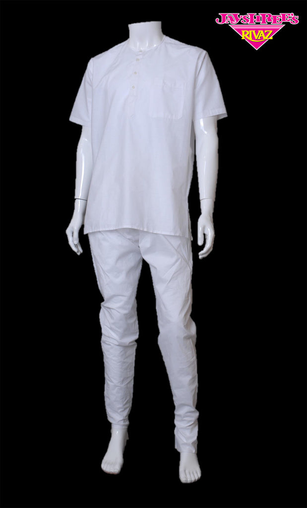 White Cotton Kurta Top