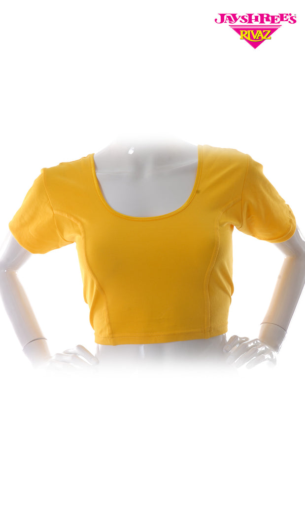 Yellow Cotton Stretch Blouse