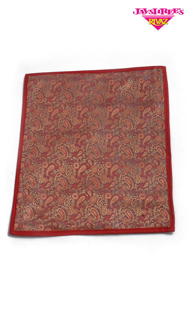 Red & Gold Paisley Sari Cover