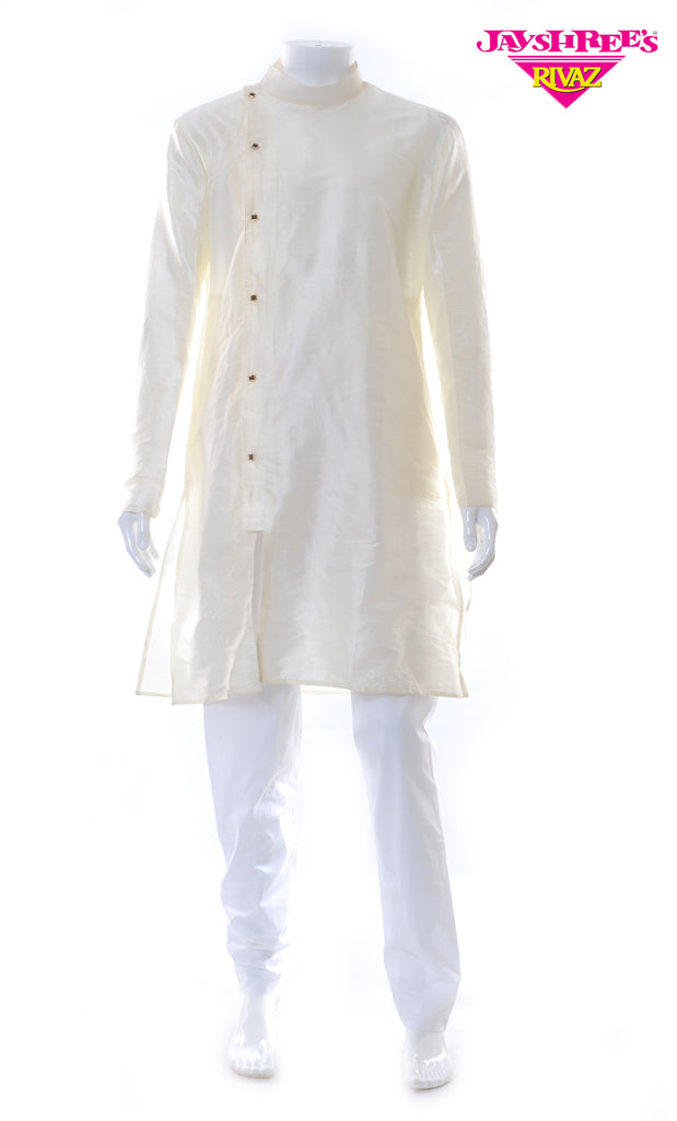 White & Cream Kurta Set