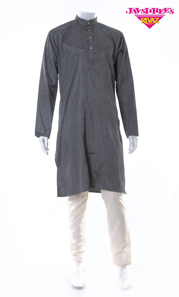 Dark Grey Kurta Set