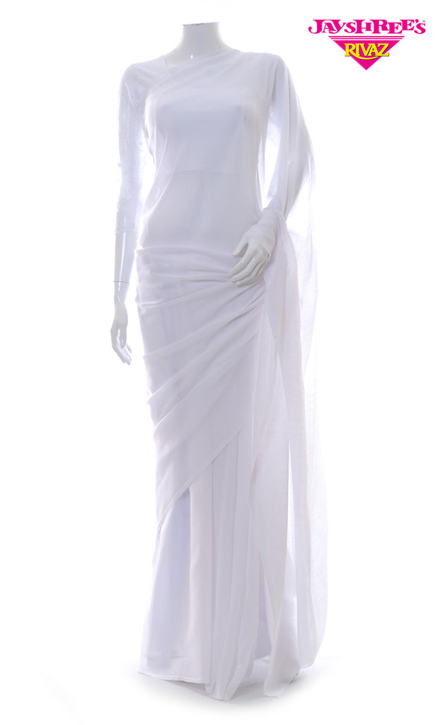 White Chiffon Prayer Sarrie