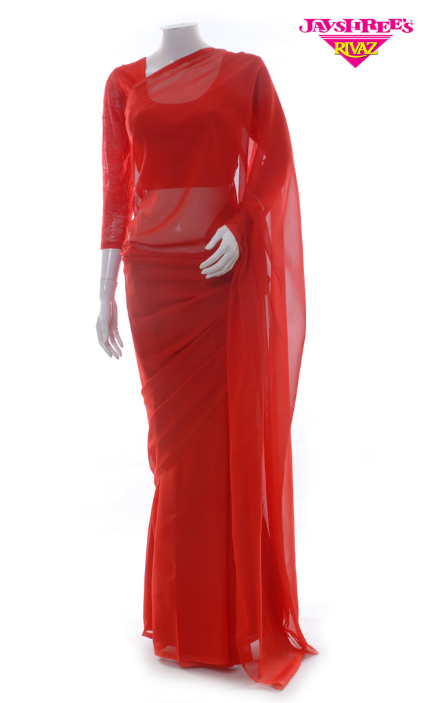 Red Chiffon Prayer Sarrie