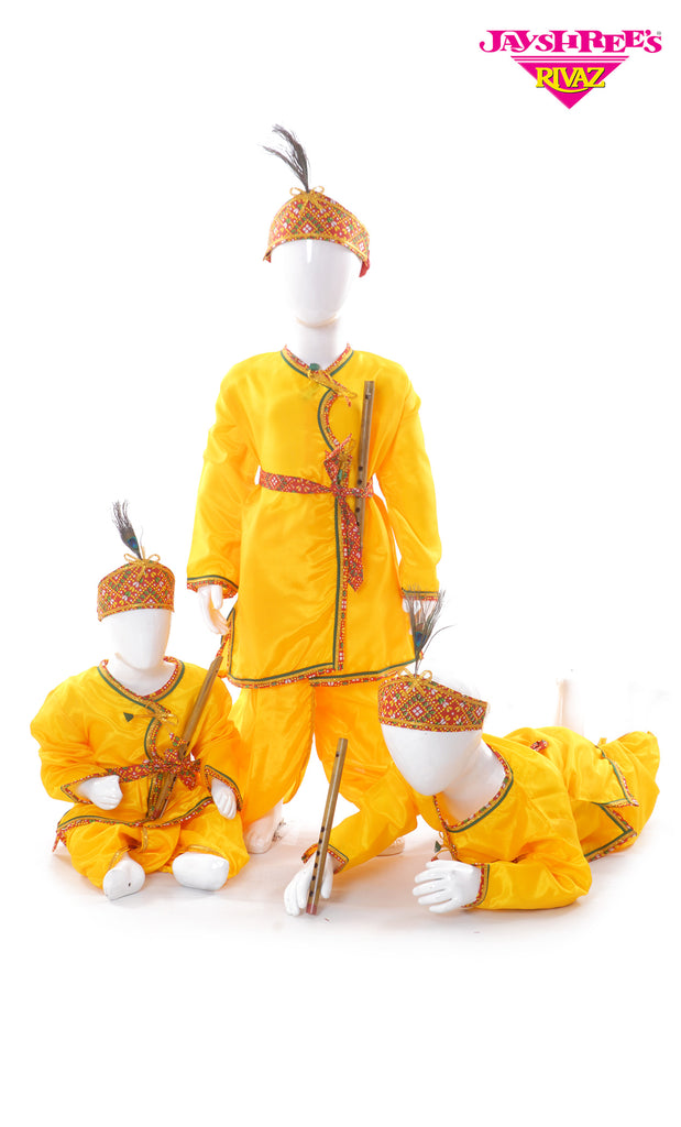 Boys Yellow Krishna Outfit