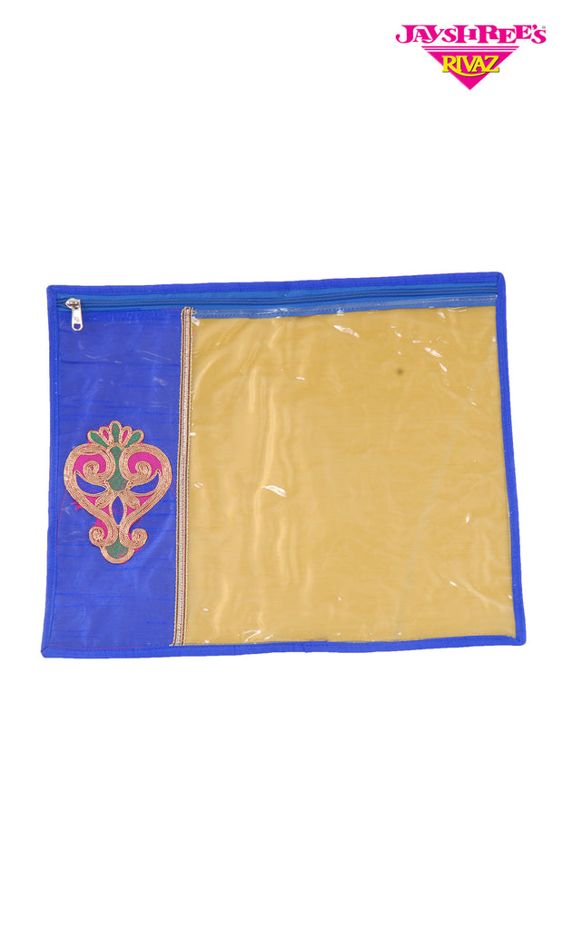 Royal Blue Emb Sari Cover