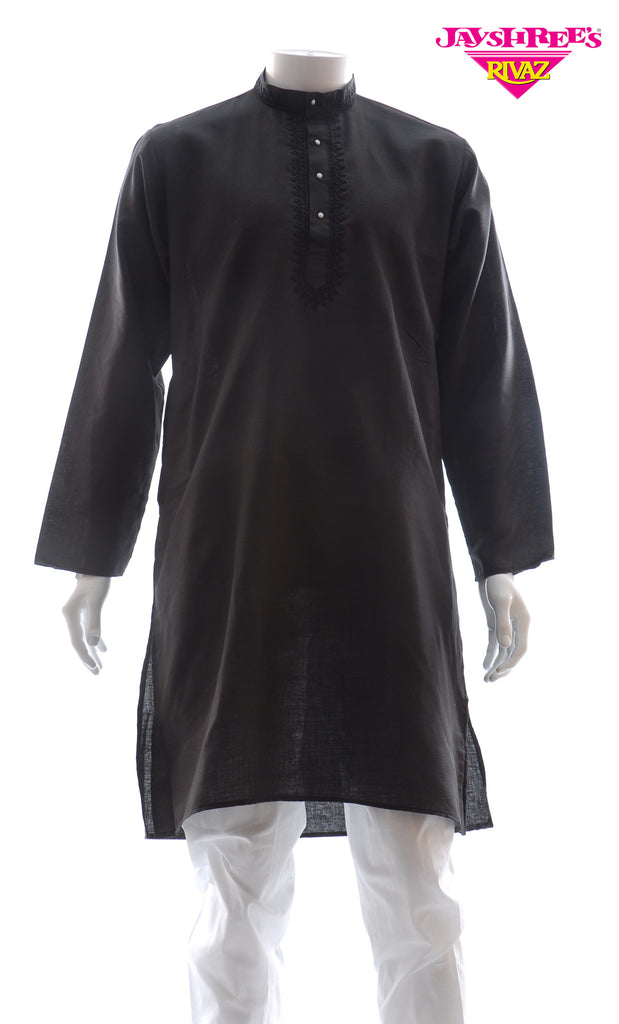 Mens Black Kurta Set
