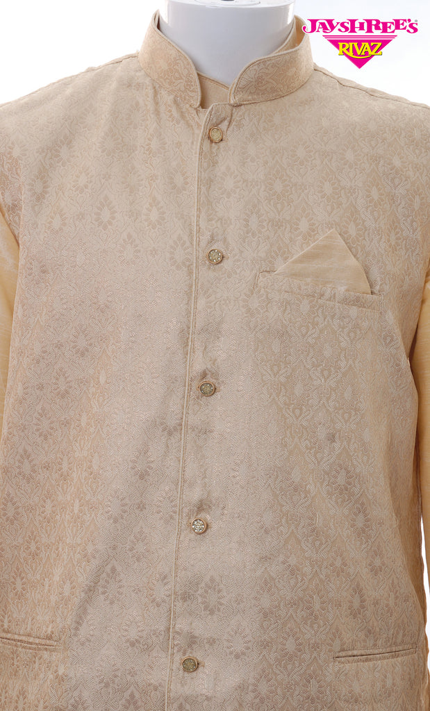 Beige 3 Piece Kurta Set