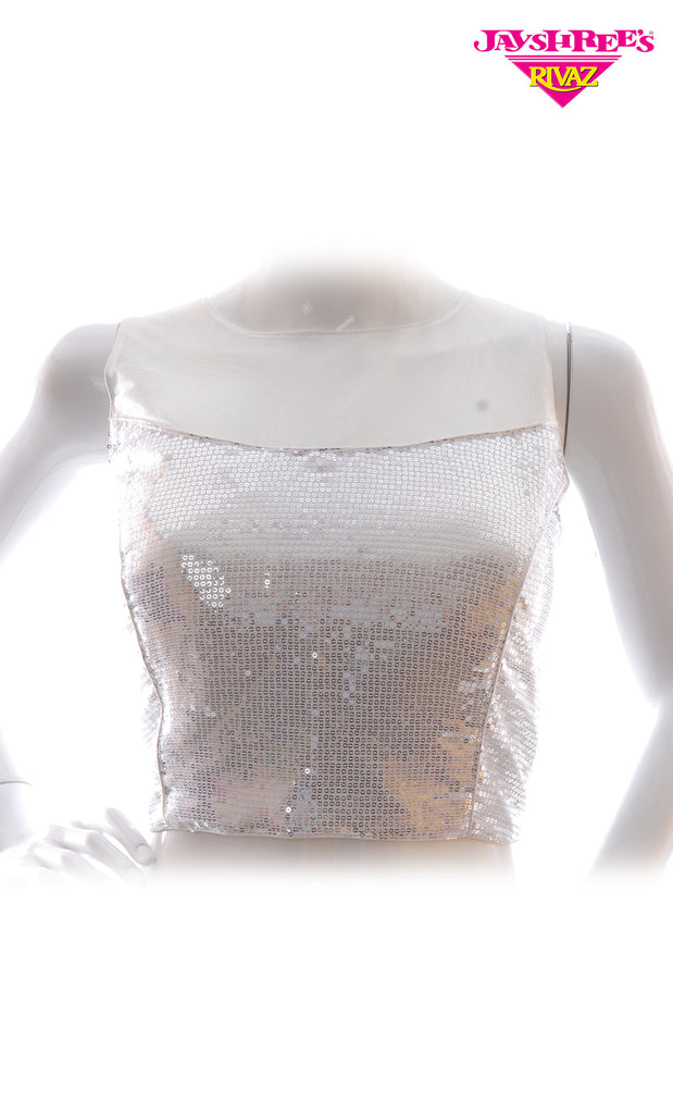 Silver Sequence Blouse