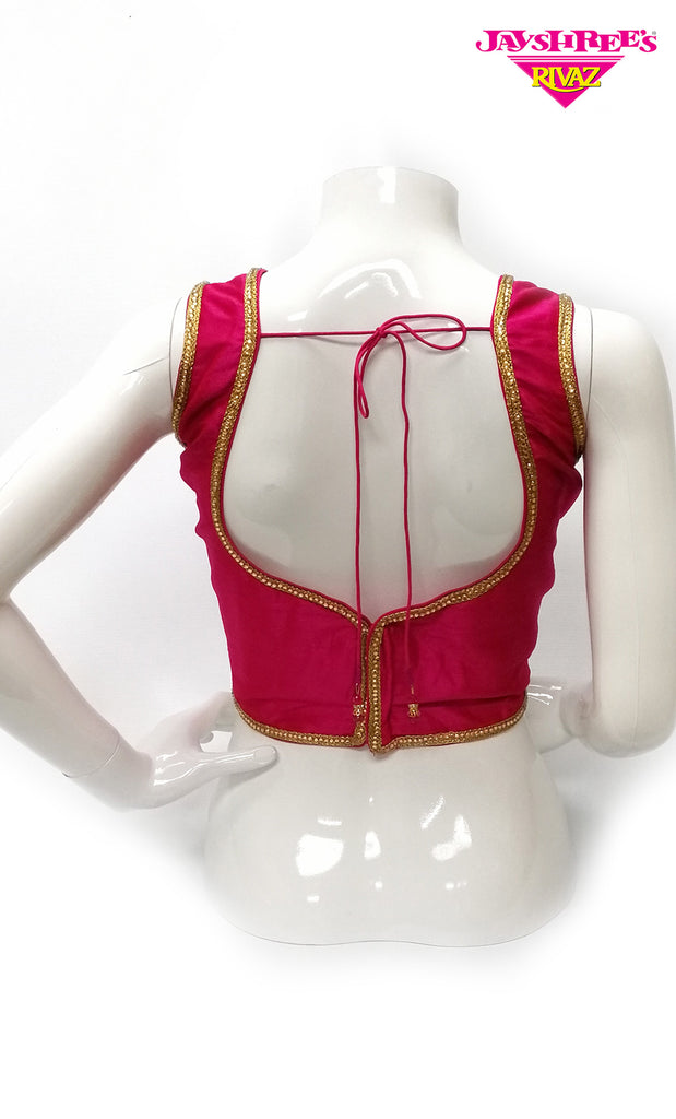 Cerise  Stone Work Blouse