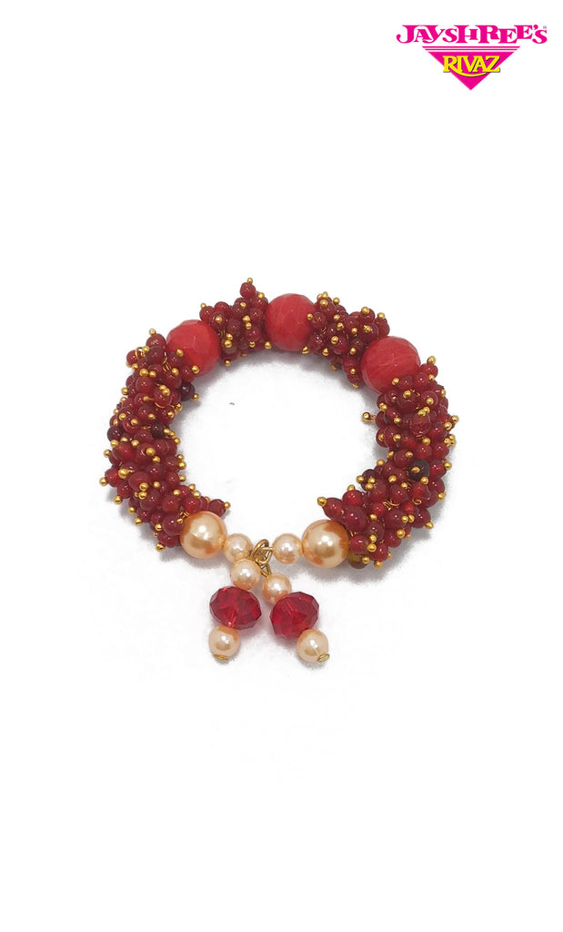 Red Bead Work Kada