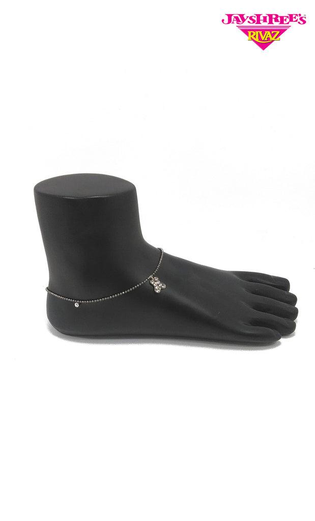 Charcoal Grey Charm Anklets