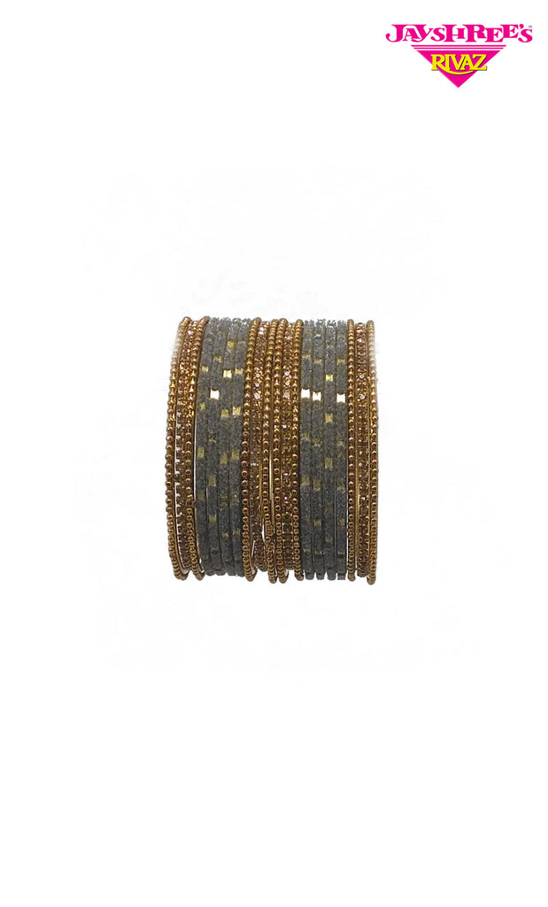 Grey & Gold Girls Bangles