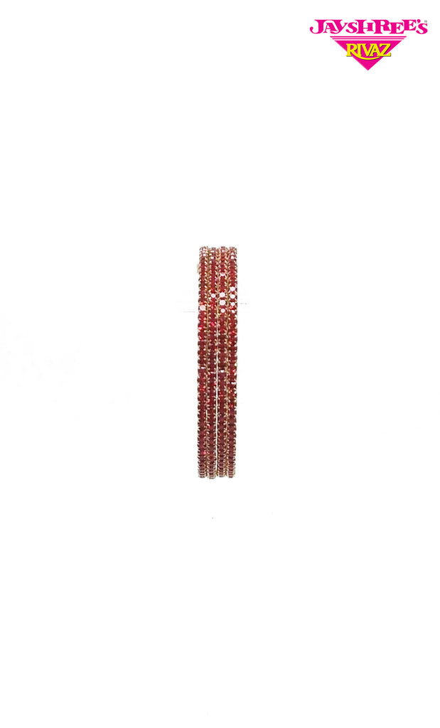 Gold & Red Girls Diamante Bangles