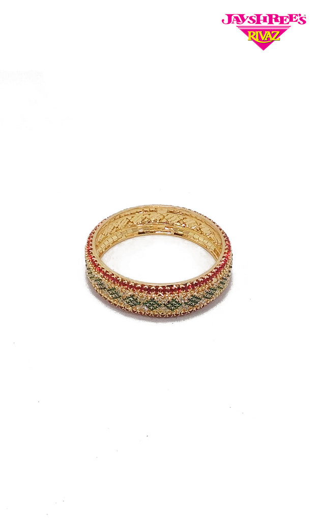 Red & Bottle Green Bangle
