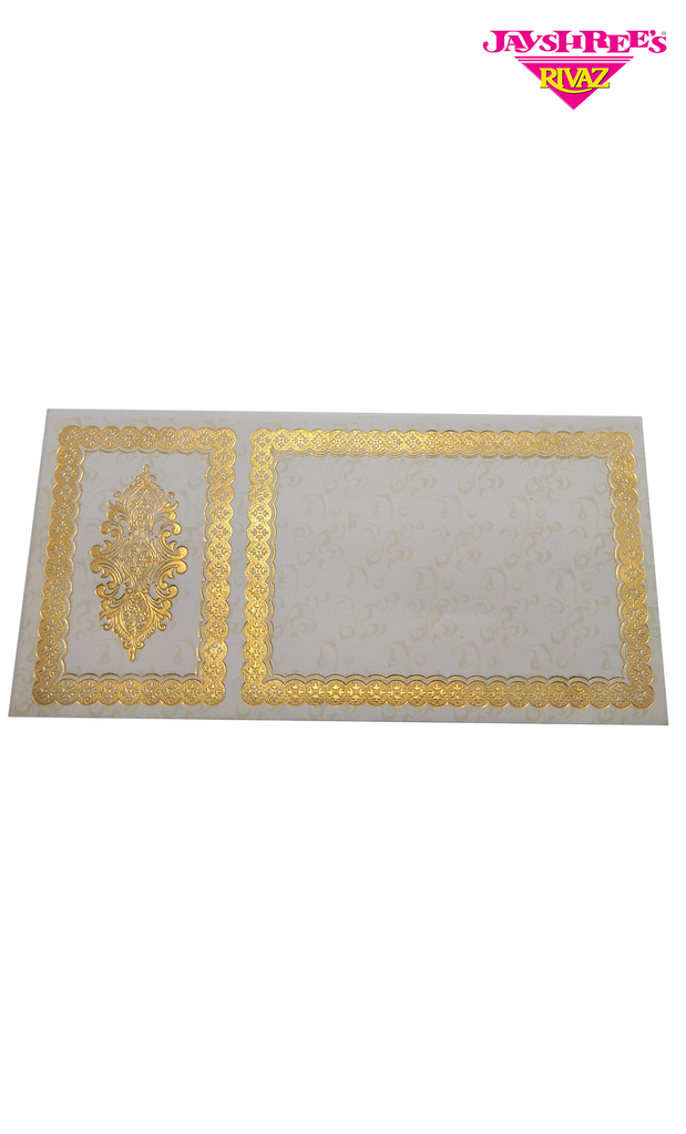 White & Gold Printed Envelope