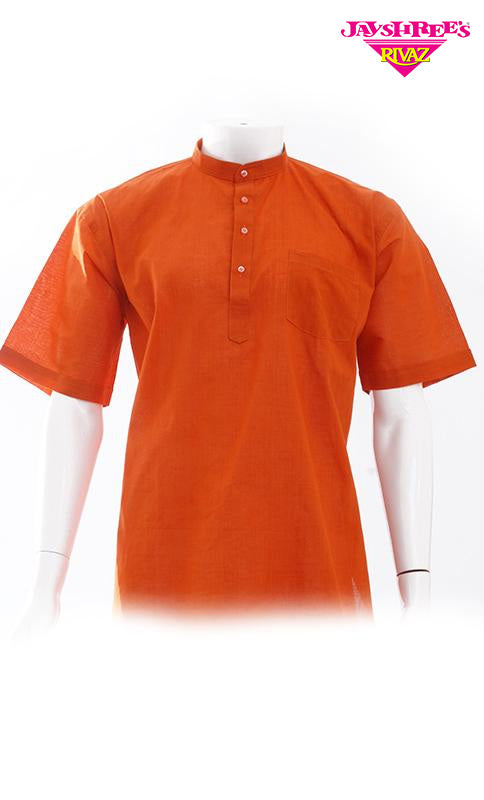 Mens Rust Kurta Top