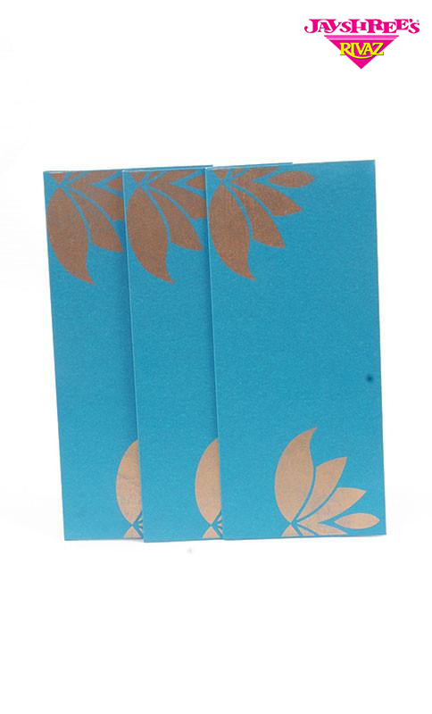 Blue with Gold Gift Envelopes - Jayshrees Online