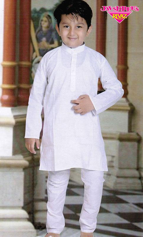Boys White Kurta Set - Jayshrees Online