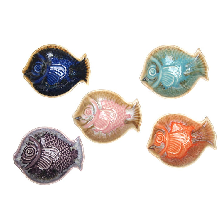 Multicoloured Fish Dipping Bowl Set of 5