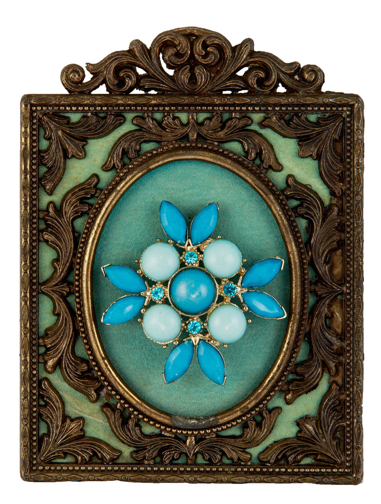 Brooch Frame Blue